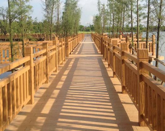 2米H型仿木景区护栏