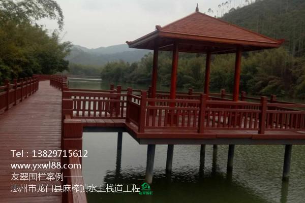 惠州市龙门县麻榨镇水上仿木栈道工程