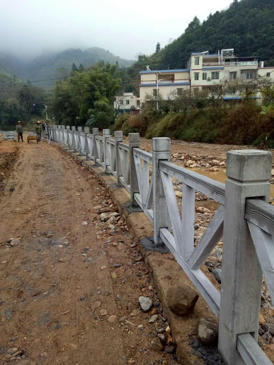 平字型生态园仿木护栏