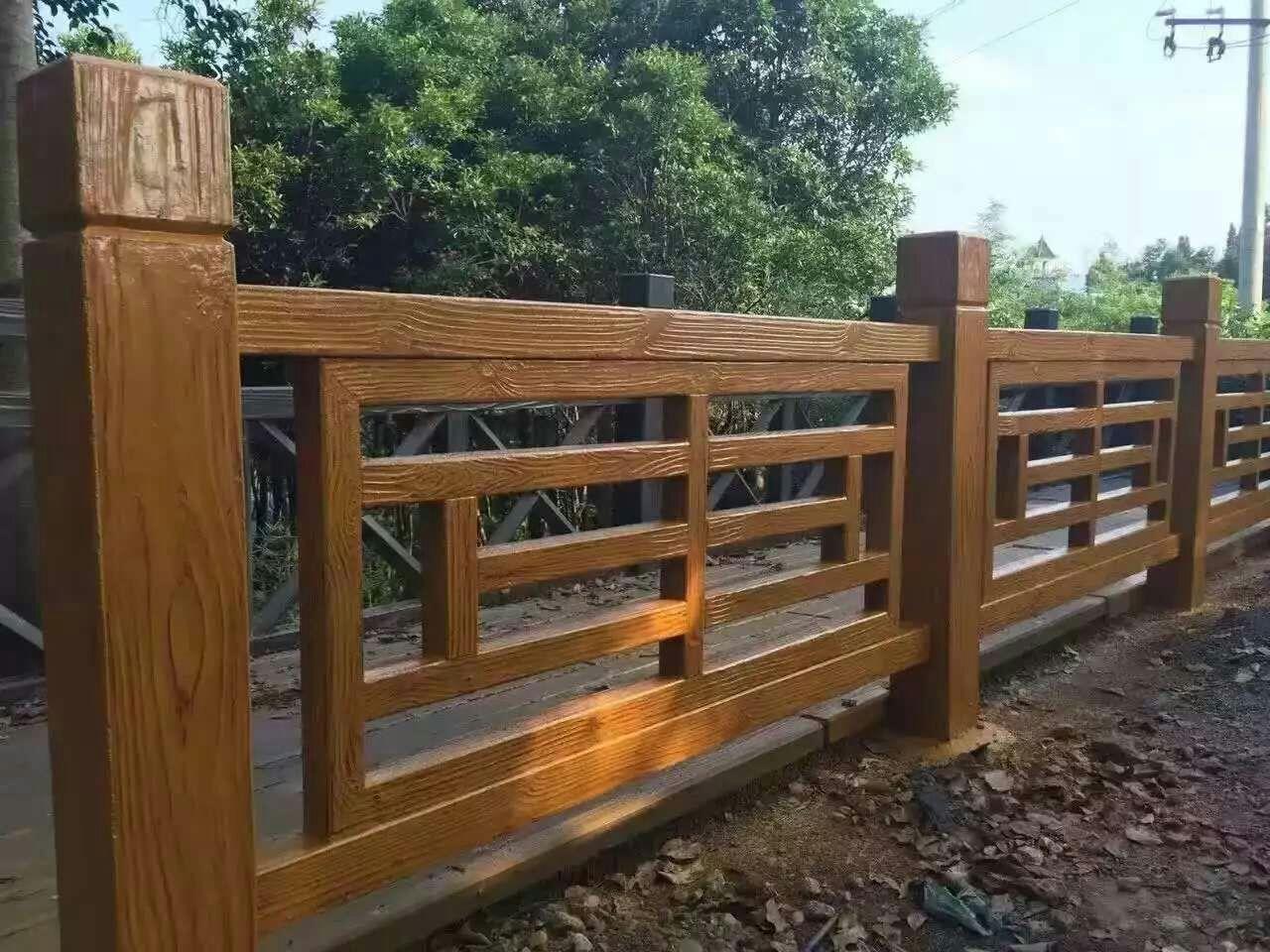 苗寨款仿木景区护栏